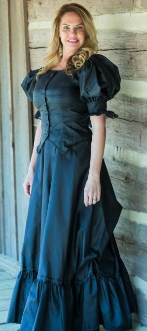Ladies Antique Satin Victorian Outfit-CL2974 - shop-blanches-place