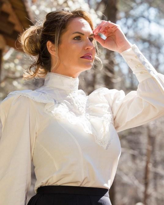 Ladies Gibson Girl Victoian Blouse-CL463 - Blanche's Place