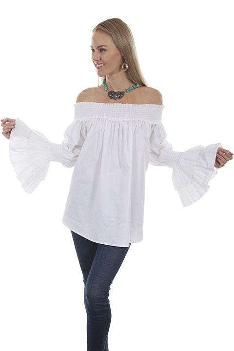 Ladies Hippy Chic Peasant Blouse-HC427 - shop-blanches-place