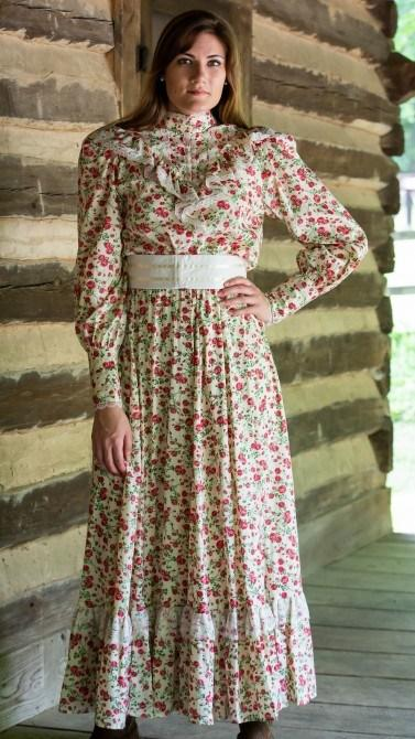 Ladies Victorian Floral  Gibson Girl Dress-CL2963 - Blanche's Place