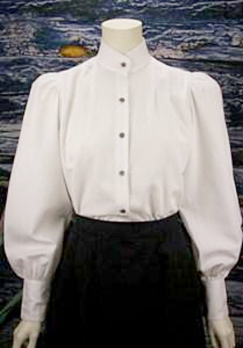 Ladies High Neck Victorian Blouse-CL486 - Blanche's Place