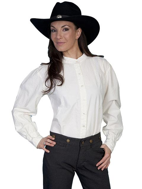 Ladies Old West Ranch Style Blouse-RW569