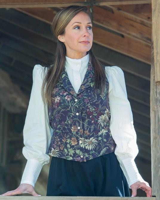 5f6d9b90d9e8 ... Ladies Victorian Inspired Old West Vest-CL763 - Blanche's Place ...