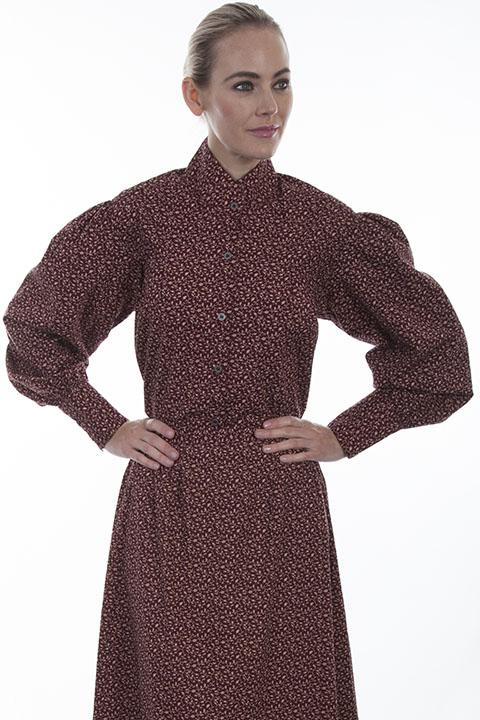 Ladies Victorian Old West Pioneer Blouse-RW592