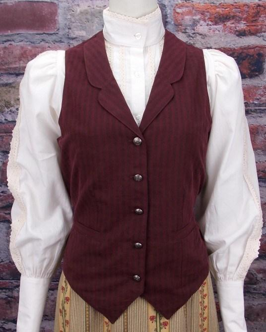 Ladies Victorian Old West Vest CL7651 - Blanche's Place