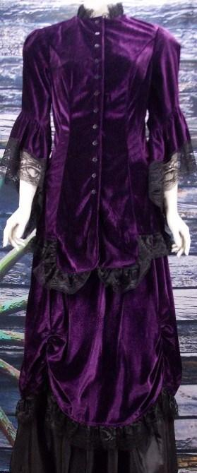Gorgeous Velvet Victorian Polonaise Dress-CL2981 - Blanche's Place