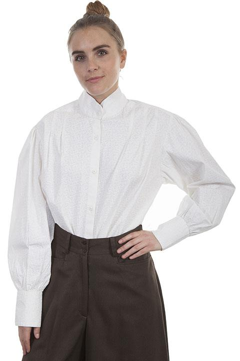 Ladies Old West White Ranch Blouse RW-595