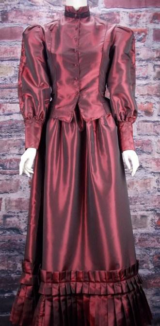 Ladies Victorian Taffeta Suit-CL2916 - Blanche's Place