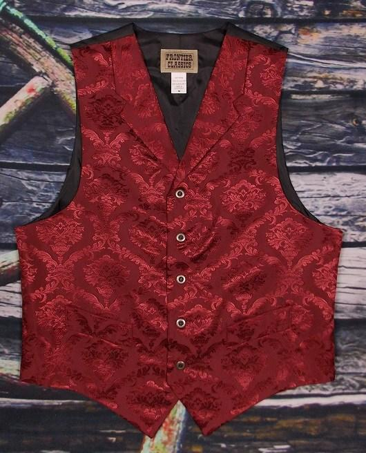 Men's Old West Fancy Burgundy Vest-CM755 XL ONLY! - Blanche's Place