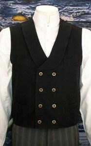 Men's Old West Double Breasted Vest CM59 - Blanche's Place