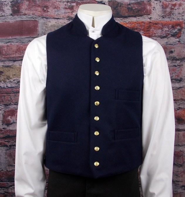 Men's Civil War Indian War Gettysburg Military Vest-CM6132 - Blanche's Place