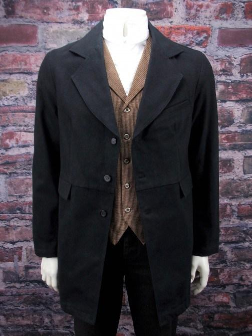Brushed Cotton  Old West Gunfighter Coat-CM91 - shop-blanches-place