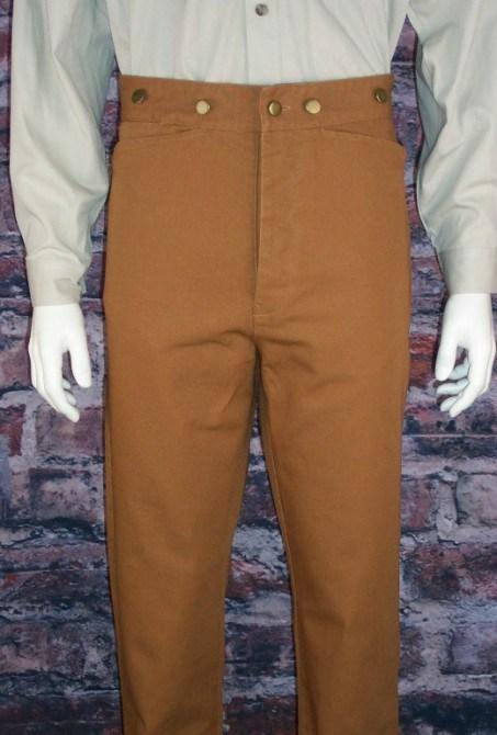 Men's Old West Canvas Frontier Pants-CM83 - shop-blanches-place