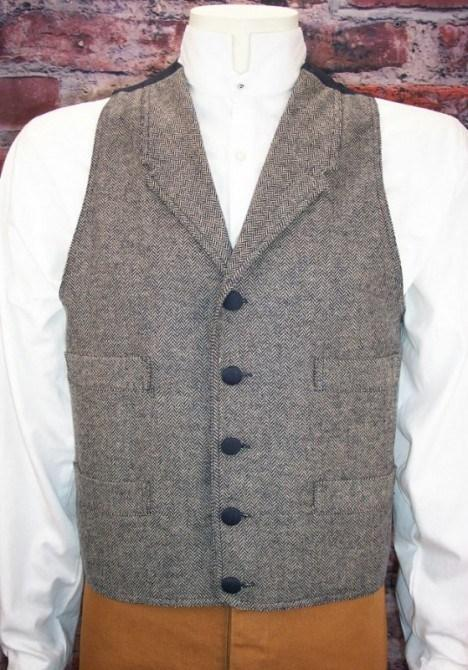 Men's Old West Wool Vest-CM6014 - Blanche's Place