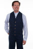 Men's Dark blue navy old west cowboy canvas vest