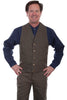 Mens old west frontier cowboy vest