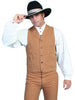 Men's brown old west cowboy vest