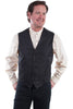 Mens Black Western Vest with Paisely Print