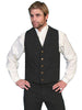 Men's Black Old West Canvas Cowboy Vest
