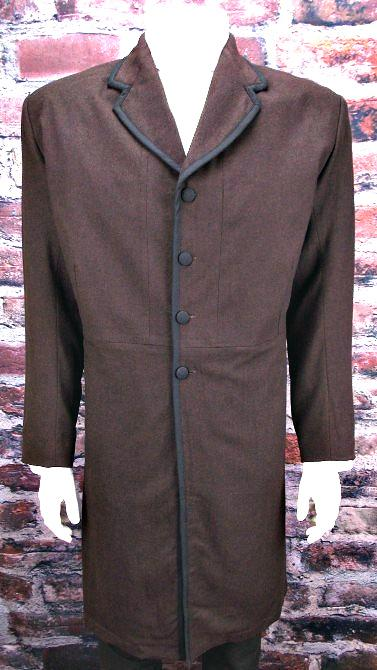 Mens Authentic  Old West, Stempunk or Victorian Frock Coat-Garrett - Blanche's Place