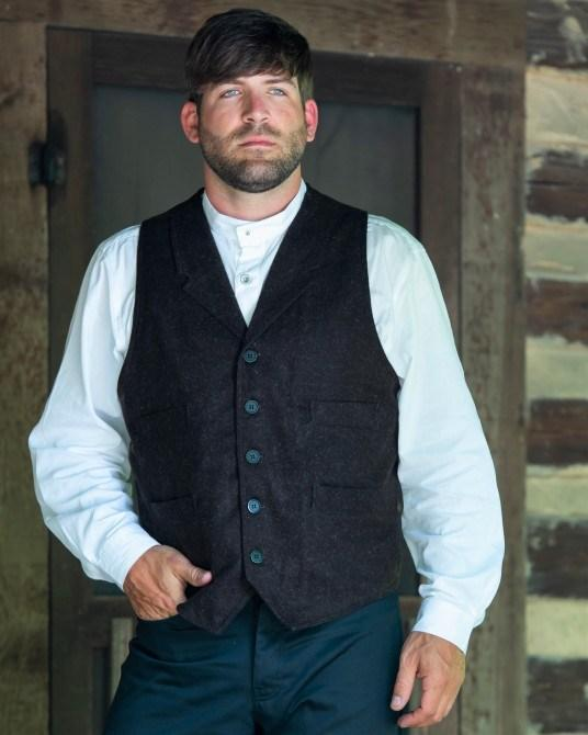 Men's Wool Old West Vintage Style Vest CM6031 - Blanche's Place