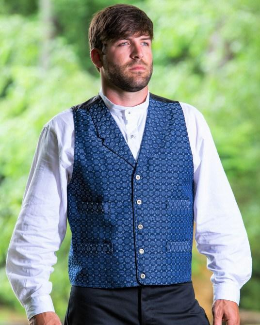 Men's Victorian Vintage Inspired Herringbone Vest-CM6033 - shop-blanches-place