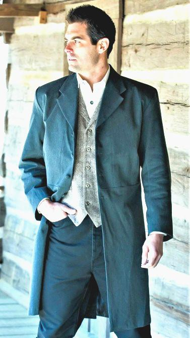 Men's Old West Tombstone Frock Coat-CM92 - Blanche's Place