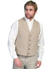 Men's Light Brown Sand Old West Canvas vest