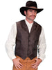 Men's Brown Wahmaker western vest