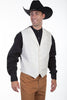 Men's cream colored western wedding vest