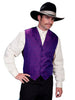 Men's Purple Western Wedding Vest