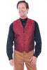 Men's Red Paisley Western Wedding Vest