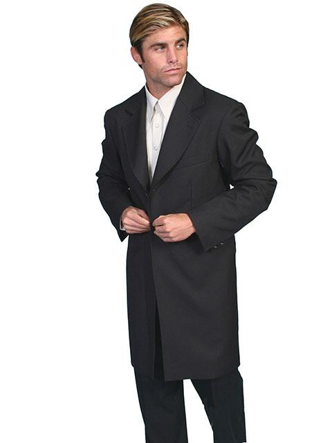 Mens Black Old West Victorian Frock Coat - RW042 - Blanche's Place