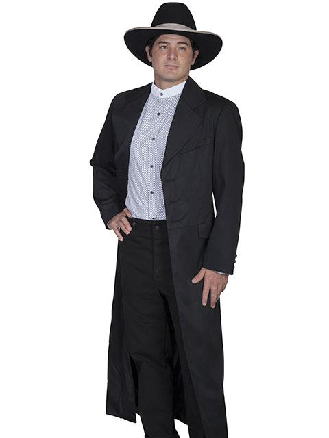 Mens Wahmaker Old West Long Tombstone Black RIfle Coat-567009 - Blanche's Place