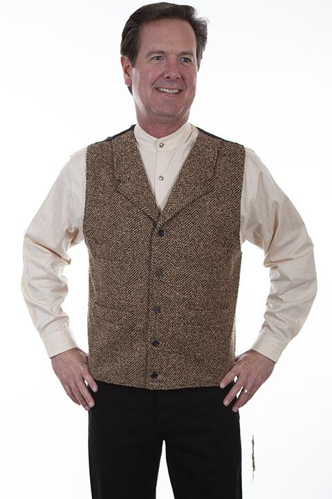 Mens Old West, Victorian, Steampunk Tweed Vest-521124