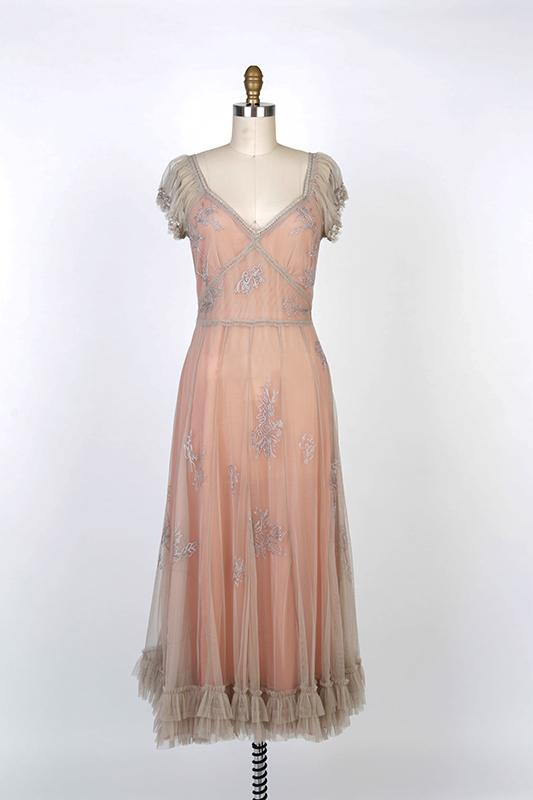 Romantic Victorian Downton Abbey Inspired Antique Mauve Dress-40192 XL - Blanche's Place