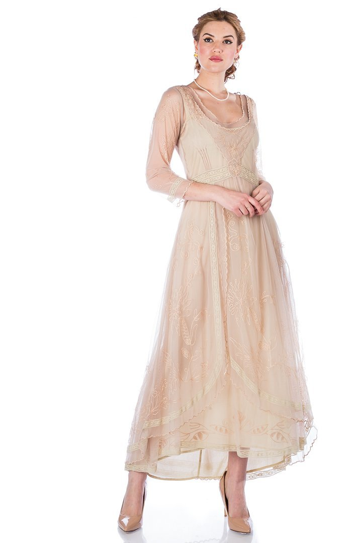 171cd21f80c ... Nataya Vintage Inspired Victorian Lace Dress-40163 - Blanche s Place ...