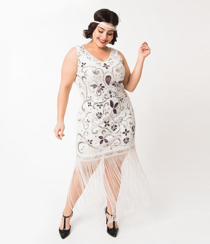 Gorgeous 1920\'s Beaded Flapper Dress with Long Fringe-St ...