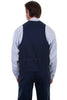Scully Mens Old West Frontier Canvas Vest-RW041