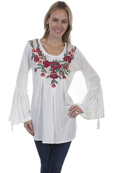 Ladies Western Blouse the Embroidery-HC 450 - shop-blanches-place