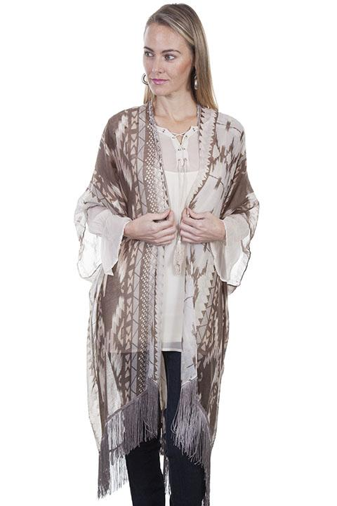 Ladies Light Weight Aztec Inspired Kimono-HC317 - shop-blanches-place