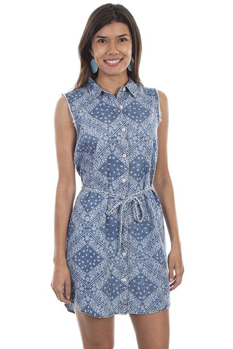 Cotton Print Paisley Dress from Honey Creek-HC470 - Blanche's Place