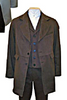 Brown Cotton Twill Men's Old West Outlaw Coat-CM91