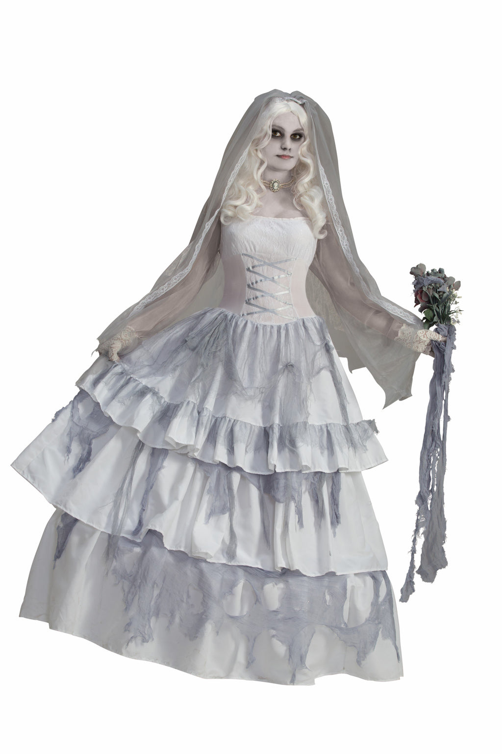Delux Victorian Ghost Bride Costume- - Blanche's Place