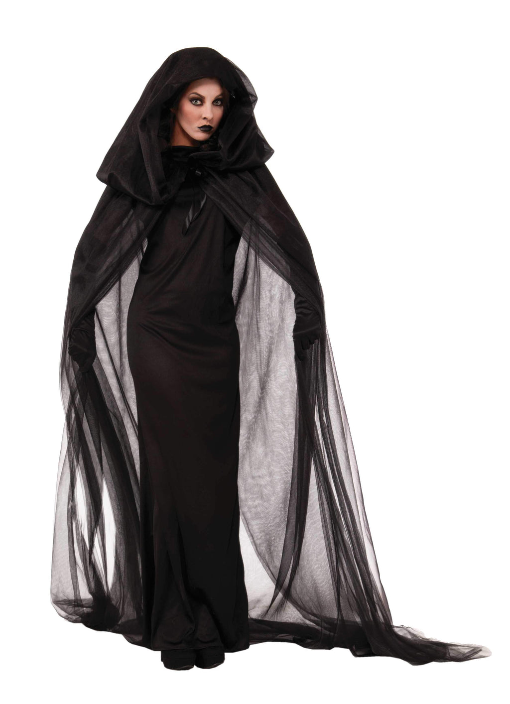 Black Haunted Cape Halloween Costume-FREE SHIPPING - Blanche's Place