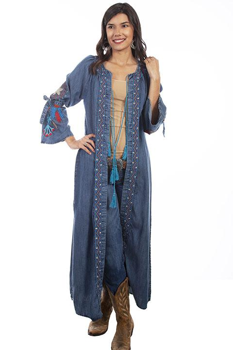 Ladies Honey Creek Western Denim Fashion Duster-HC633
