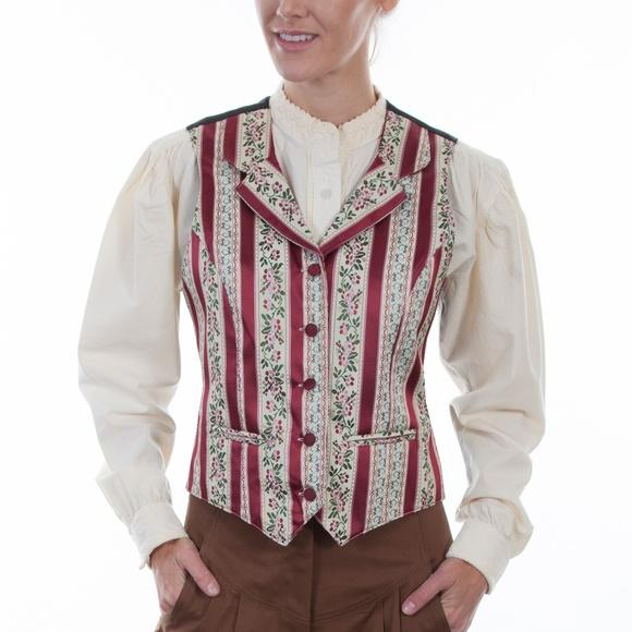 Darling Old West Scully Ladies Stripped Vest-Size M - Blanche's Place