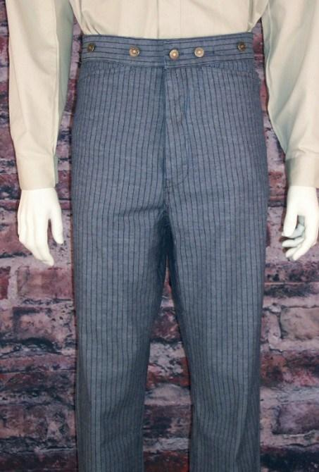 Men's Old West Stripped Denim Pants-CM831 - shop-blanches-place