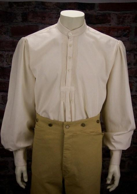 Men's Old West Frontier Style Shirt-CM564 - Blanche's Place