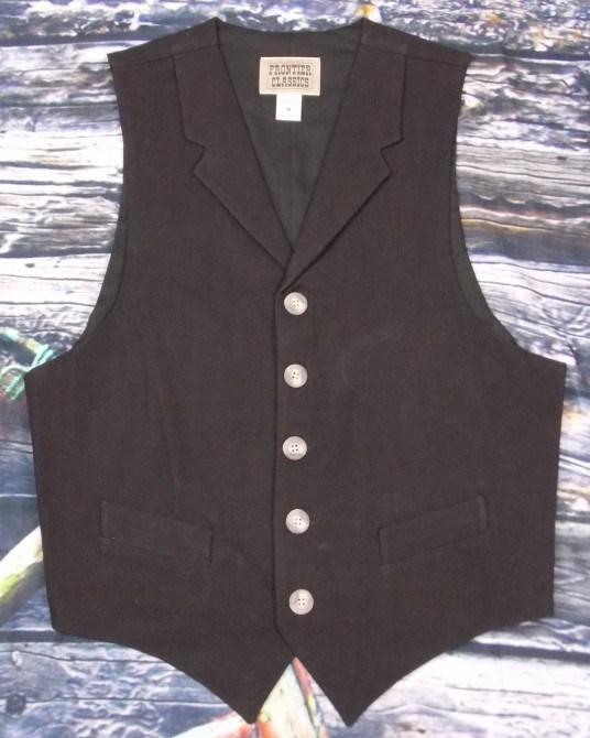Men's Black Vintage Old West Cimarron Vest-CM7522